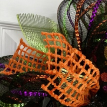 Witches Coffee House Stop By For A Brew Halloween Handmade Deco Mesh Wreath image 4