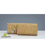 EcoQuote Long Wallet 3 Ways Use Handmade Cork Eco Friendly Material for ... - $39.50