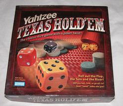 Yahtzee Texas Hold'em Edition Complete, Great Condition, Board Game Dice... - $19.79