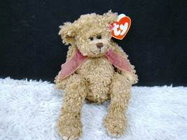 Ty Beanie Bear 1993 Berkley Brown Bear with Pink Ribbon Plush, New with Tags - $3.95