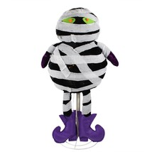 "Northlight 34"" LED Lighted Standing Black and White Mummy Halloween Deco... - £60.74 GBP"