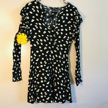 Forever 21 Black Floral Long sleeves dress small - $9.01
