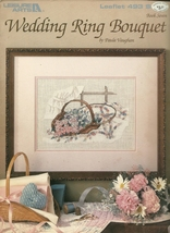 Wedding Ring Bouquet Cross Stitch Embroidery Pattern Leaflet 493 Leisure... - $6.99
