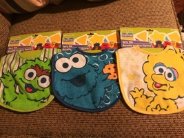 Lot of 3 Sesame Street Beginnings Infant Oscar Cookie Monster Big Bird T... - $14.25