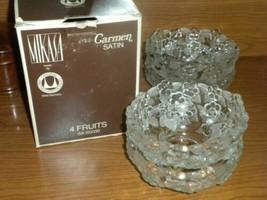 "MIKASA Crystal CARMEN 4 Fruit, Dessert, Sauce or Berry Bowls 5 1/4"" W Ge... - $29.69"