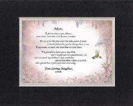Personalized Touching and Heartfelt Poem for Mothers - Mom, I Feel So Close To Y - $22.72
