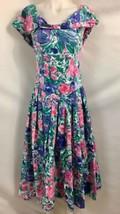 Vintage 1980's Momentos Blumenmuster A-Linie Bodenlanges Kleid, Damen GR... - $29.91