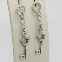 Boucles D'Oreilles en Argent 925 Plaqué Rhodium Pendentifs avec Clés et ... - $40.96