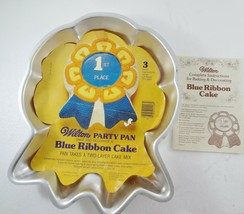 Wilton Blue Ribbon Cake Mold Cake Pan Cover Sheet 2105-2908 Booklet 502-... - $31.85