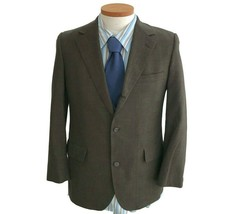 Brooks Brother's Men's Brown Plaid Wool Sports Jacket Two Button Blazer ... - $41.80
