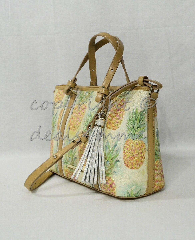 NWT Brahmin Mini Asher Leather Satchel/Shoulder Bag in Multi Pompano image 4