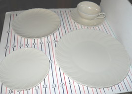 Lenox Sculpture OFF WHITE 5 Piece Place Setting FREE SHIPPING - $31.68