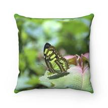 Spun Polyester Square Pillow - River butterfly - El Yunque - Puerto Rico - £13.81 GBP+