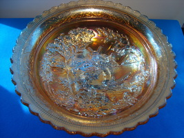 Imperial glass double dutch marigold carnival glass bowl. - $15.00