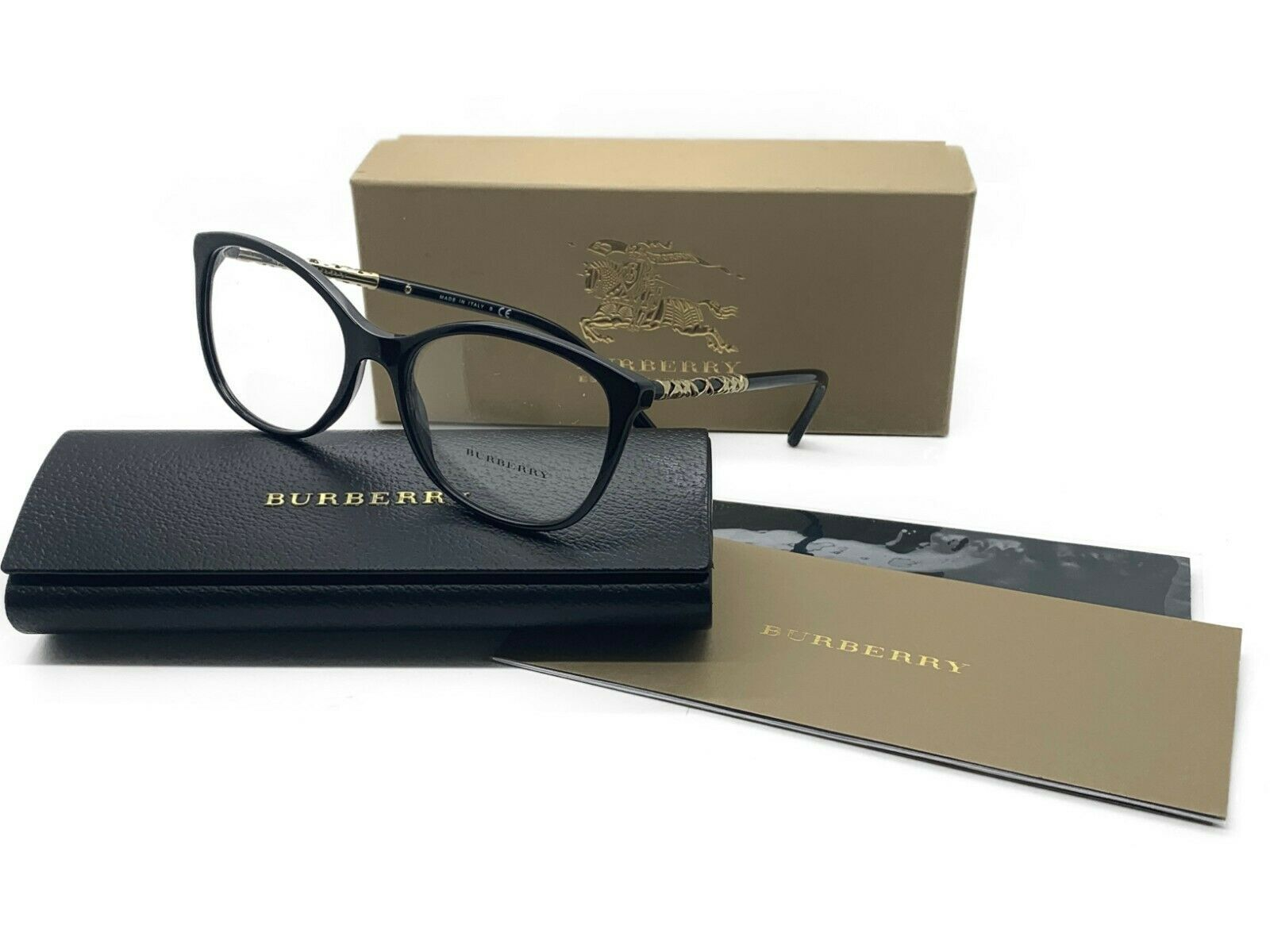 79faa493afa3 NEW BURBERRY B 2245 3001 BLACK WOMEN'S AUTHENTIC EYEGLASSES FRAME 54-17 -  $116.37