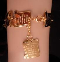 Vintage Charm bracelet / Ten Commandments / Religious Christian gift / Confirmat - $75.00
