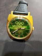 Pobeda ZIM mens wrist watch AU10 Gold plated vintage USSR RARE  - $71.00