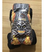 "Monster Jam Truck Black Orange Yellow Tom Meents Pillow Plush 12"" Toy Lovey - $19.79"