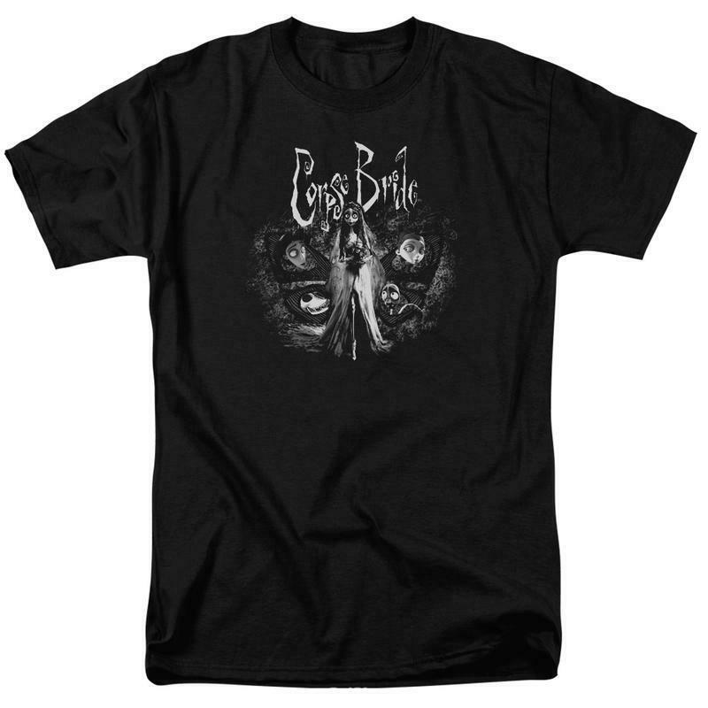 Corpse Bride t-shirt gothic Tim Burton animated movie Graphic tee WBM212