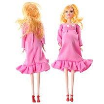 Pink Dress Real Pregnant Doll Suit Mom Doll Have A Baby In Her Tummy For... - $4.34