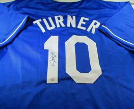 JUSTIN TURNER / AUTOGRAPHED LOS ANGELES DODGERS CUSTOM BASEBALL JERSEY / COA image 1