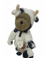 "Boyds Bear Plush Mookins Bear in Cow Outfit 11"" Jointed Stuffed Animal  - $19.99"