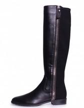 Stuart Weitzman 5050 Black Nappa Leather Zipmedown Boot Knee High Classic 7.5 - $499.98