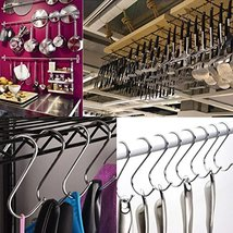 LOYMR 10 Pack 4.7 Inches Extra large S Shape hooks Heavy-duty Metal Hanging Hook image 5