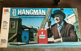 Hangman Board Game 1976 Milton Bradley w/ Vincent Price on cover Vintage - $19.25