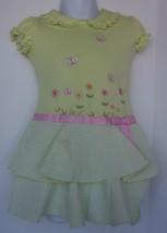 YOUNGLAND Light Green Dress Toddler 3T Floral Seersucker Skirt Beautiful... - $7.91