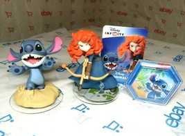 Disney Infinity 2.0 Stitch and Merida with Power Disk & Card - $9.49