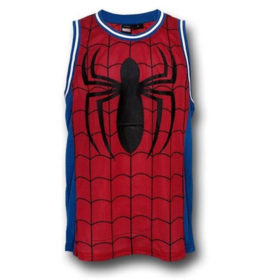 bda3f328399 New Spiderman Spidey Marvel Comics Mesh Basketball Jersey Shirt Adult Size  Large - $19.80