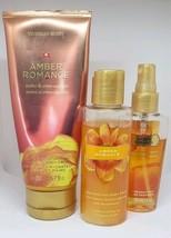 Victoria's Secret Amber Romance Set Mist Body Wash Hand Body Cream Gently Used - $24.45