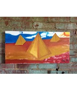 Egyptian Pyramids Desert CANVAS WALL ART Creative Art Scene Handmade Uni... - $29.69