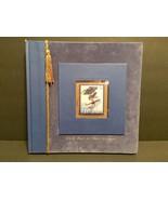 "Graduation Album Binder Blue Velvet ""Hold Fast to Your Dreams"" New Seasons - $15.85"