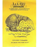 Ala Art Rubber Stamps Unbearable Rubber Stamp - $6.25