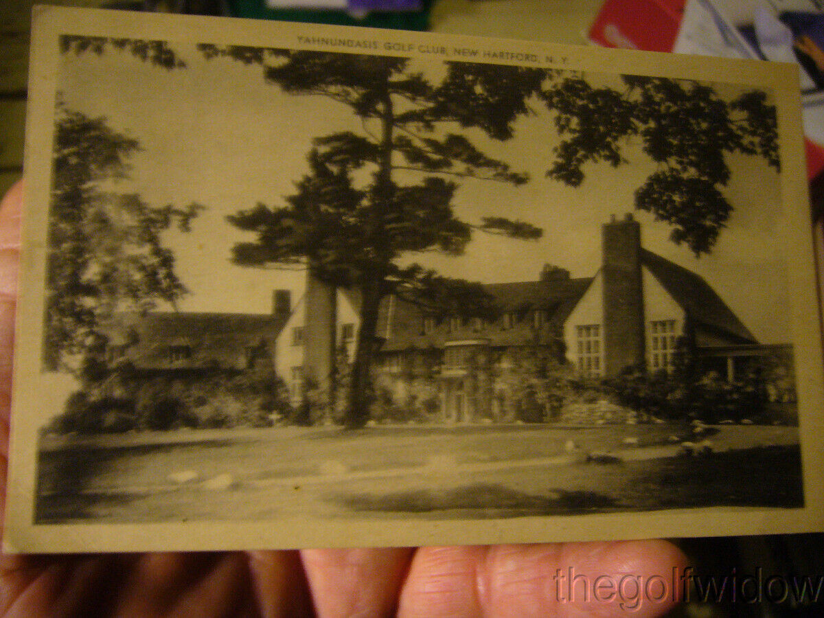 Vintage Postcard Yahnundasis GC Club House Photo