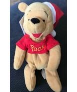 "Disney Store Bean Bag Plush Santa Pooh Winnie the Pooh Christmas NWT 8"" ... - $8.90"