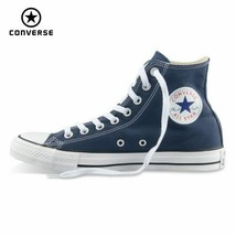 Original Converse all star shoes men women's sneakers canvas shoes all b... - $83.17