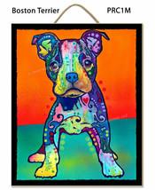Dean Russo Plaketten Boston Terrier Brooklyn -basierend Perfect Gift Kom... - $25.66 CAD