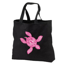 Sea Turtle Pink Ribbon New Tote Bag Gift Breast Cancer Awareness - $17.99