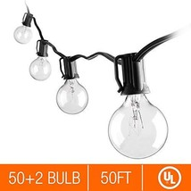 Zanflare 50ft Vintage Globe String Lights with 52 Clear G40 Bulbs 2 for ... - $38.11