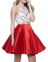 Women's Sexy A-Line Beaded Short Homecoming Dress 2018 Cocktail Dress Pa... - $128.99