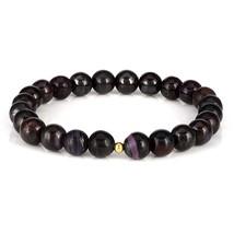 Love Stone - Sugilite Smooth Round Beaded Handmade Stretch Bracelet Unis... - $58.99