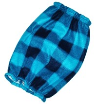Turquoise Black Buffalo Plaid Fleece Dog Snood by Howlin Hounds Size Pup... - $9.50