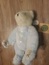 "Boyds Bears Blue Teddy Bear Plush ""Gwain"" w/Rose Buttons & Ribbon-All Tags,11.5"" - $7.92"