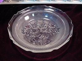 Vintage Jeannette Glass Crystal Iris Herringbone Flat Soup Bowl, Rare Pi... - $69.99
