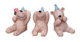 PANDA SUPERSTORE Set of 3 Unique Animal Decoration Zoo Animal Toys,1.6''