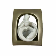 Circle of Love Figurine ENESCO 2004 Kim Lawrence White Ceramic with Gold... - $19.79
