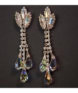 """3.5"""" Austrian Crystal Chandelier Earrings Handmade in New England Since ... - $18.38"""